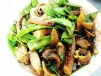 沙茶炒豌豆魷魚