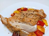 增肌減脂氣炸鍋10分鐘料理-氣炸嫩雞甜椒