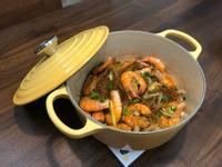 《鑄鐵鍋料理》鮮蝦粉絲煲