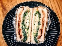 菠菜蛋起司培根三明治