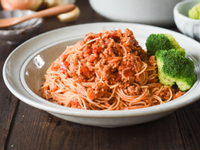 [蔬食]番茄肉醬義大利麵