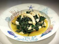 魷魚菠菜蕃茄煮