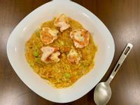 南瓜鮮蝦起司燉飯(無油鹽麴料理)