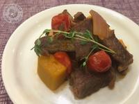 南瓜蕃茄燴牛肉
