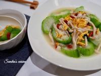 滑蛋鮮菇燴絲瓜