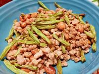 簡單健康快速~氣炸鍋四季豆伴炒豬絞肉花生