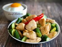 小黃瓜嫩炒雞丁 (雞胸肉)  [健身]