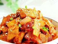 鹹肉泡菜炒豆腐