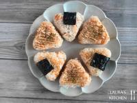明太子鮭魚烤飯糰