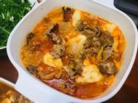 中韓料理:泡菜牛肉麵疙瘩