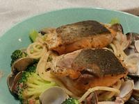 明太子鮭魚奶油義大利麵