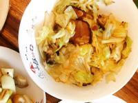 畢可思法式手工香腸-培根炒高麗菜