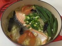 味噌鮭魚白菜鍋