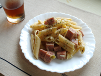 【早午餐】餐肉義大利麵
