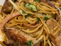 港式料理:乾炒豬扒意粉