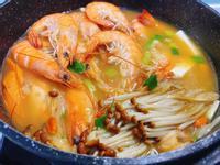 泡菜豆腐蝦湯