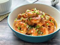 蒜味奶油茄汁鮮蝦