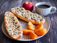 早餐-香蕉花生醬麵包