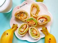 雞米花蔬菜蛋餅