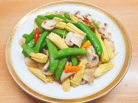蘑菇炒豌豆~吃素有福 南無阿彌陀佛