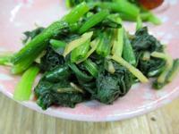日式薑香菠菜