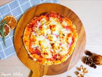 義式薄餅🍕薄餅麵團+蕃茄辣肉腸菠蘿薄餅