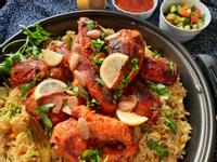 Mandi-阿拉伯煙燻雞肉香料飯