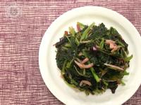 紅莧菜炒吻仔魚