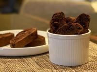 巧克力義式脆餅。biscotti