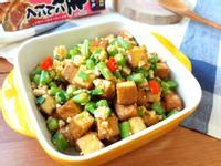 蒜香金沙豆乾炒四季豆