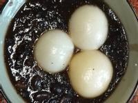 紫米紅豆佐湯圓