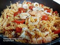 紅醬海鮮螺旋麵