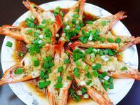 年菜~蒜蓉粉絲蒸蝦 ,簡單漂亮的大菜