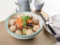 筍干焢肉爆漿魚丸滷高麗菜