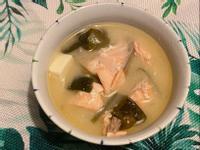 鮭魚味噌湯(微電鍋版)