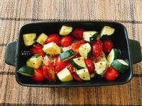 烤箱低醣料理|櫛瓜番茄雞胸