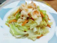 高麗菜炒蝦仁