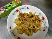 炒山葵肉絲椰花米