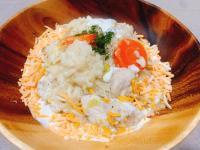白醬杏鮑菇雞肉燉飯半小時上桌