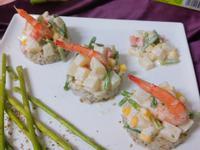 鮮蝦芥末沙拉米堡