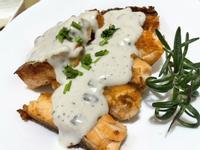 鮭魚佐奶油白醬 蘑菇濃湯懶人作法