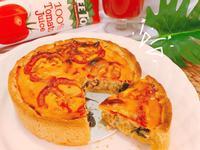 蕃茄羅勒鮪魚鹹派-高蛋白版