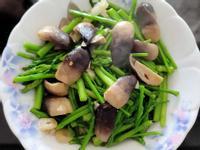 草菇炒蘆筍
