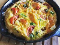 鑄鐵鍋蕃茄起司烘蛋😋-超快速懶人料理!