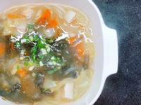 野菜鮭魚味噌湯