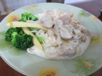 白醬蘑菇花椰義大利麵
