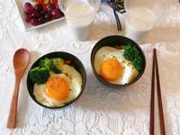 蛋蓋培根香菇甜椒咖喱飯