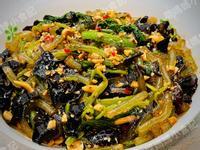 菠菜涼拌雲耳粉絲