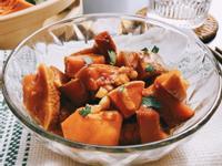 「日式佃煮風」醬油蜂蜜大蒜奶油南瓜燒