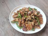 青椒舞菇味噌豬肉燒
